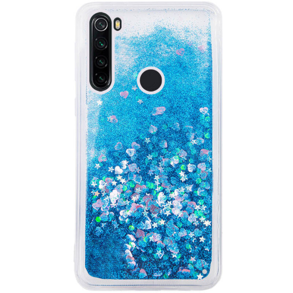 Купить Чехлы для телефонов, TPU чехол Liquid hearts для Samsung Galaxy A21 Бирюзовый (133771), Epik