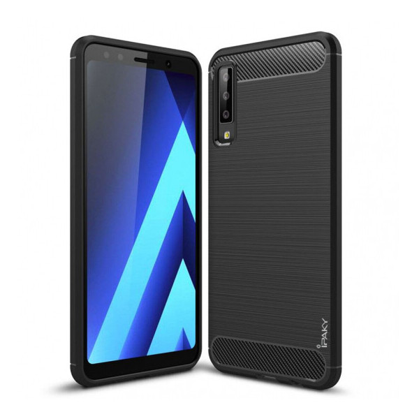 Купить Чехлы для телефонов, TPU чехол iPaky Slim Series для Samsung A750 Galaxy A7 (2018) Черный (92664)