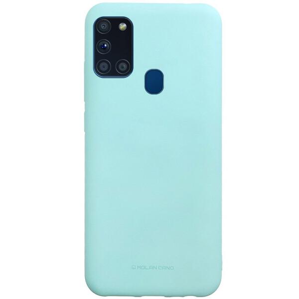 Купить Чехлы для телефонов, TPU чехол Molan Cano Smooth для Samsung Galaxy A21s Бирюзовый, Epik