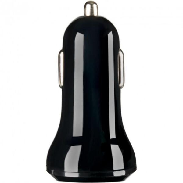 Купить Зарядные устройства для телефонов и планшетов, Автомобильное зарядное устройство Адаптер 2USB Optima Turbo 2.1A+1A Black