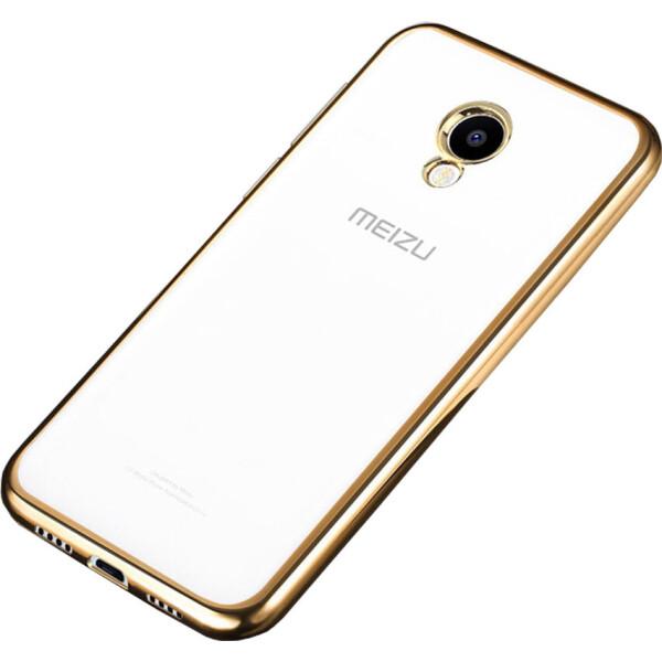 Чехол-накладка TOTO TPU case Electroplated Meizu M5 Gold (bz_F_51391)