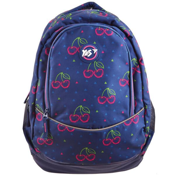 Купить Рюкзаки, Молодежный рюкзак с ортопедической спинкой для девушек YES Т-40 Cherry 46х15.5х29см 24л Темно синий (556773)