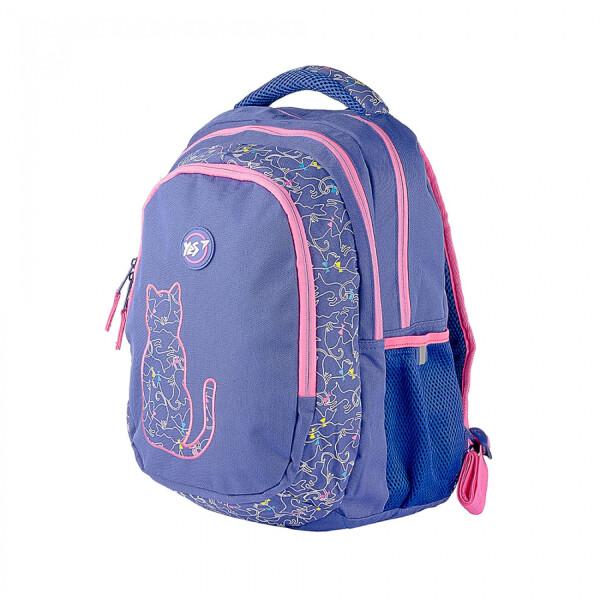 Купить Рюкзаки, Школьный каркасный рюкзак для девочки YES T-22 Cats 43х33х17см 24л Фиолетовый (558265)