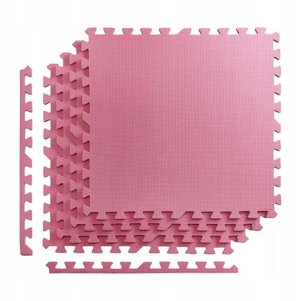 Мат-пазл 4FIZJO 120х120х1 см Розовый