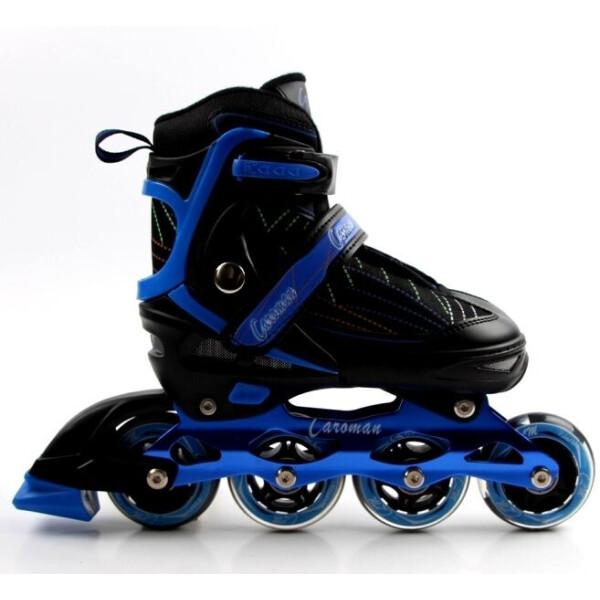 Купить Роликовые коньки, Раздвижные детские роликовые коньки Caroman Sport, размер 31-35, Blue