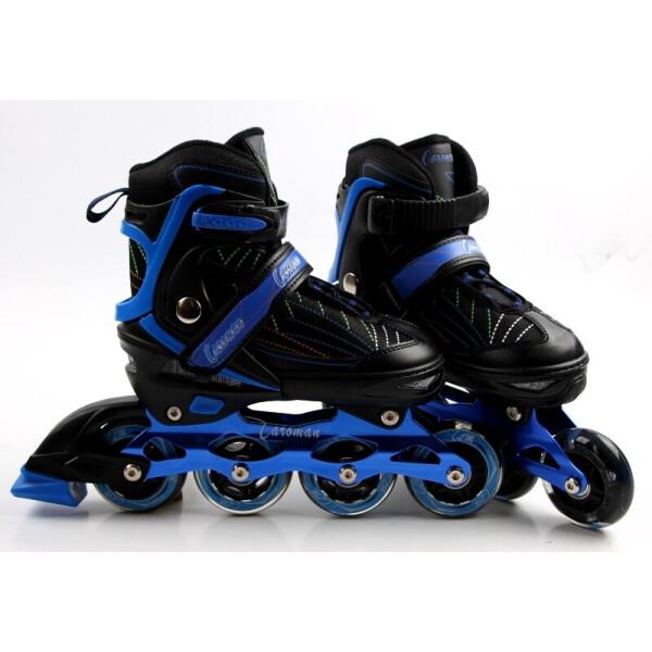 Купить Роликовые коньки, Раздвижные детские роликовые коньки Caroman Sport, размер 36-39, Blue