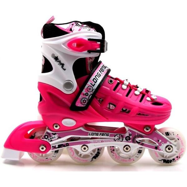 Купить Роликовые коньки, Раздвижные детские роликовые коньки Scale Sports, размер 38-42, Pink