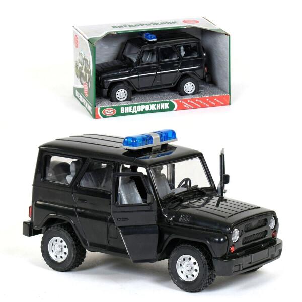 Полицейский внедорожник со световыми и звуковыми эффектами Kimi черный