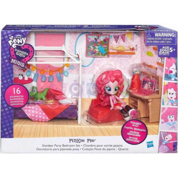 Купить Куклы, наборы для кукол, Детский Игровой Набор с Подвижной Мини-куклой для Девочек Спальня Пинки Пай Equestria Girls My Little Pony, Hasbro