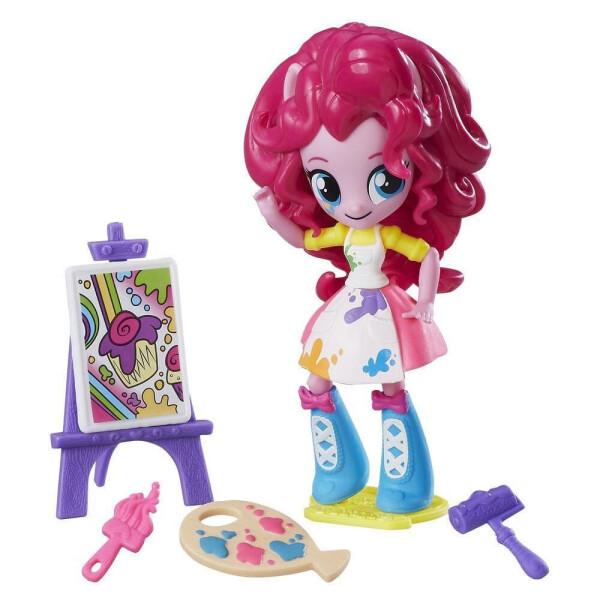 Купить Куклы, наборы для кукол, Детский Игровой Набор с Подвижной Мини-куклой для Девочек Художница Пинки Пай Equestria Girls My Little Pony, Hasbro
