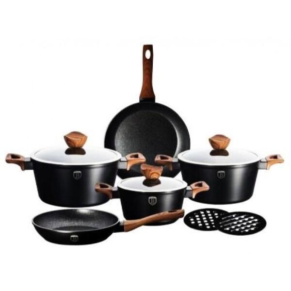 Купить Наборы посуды, Набор посуды Berlinger Haus Forest Line 10 предметов BH-1534N с технологией Turbo induction