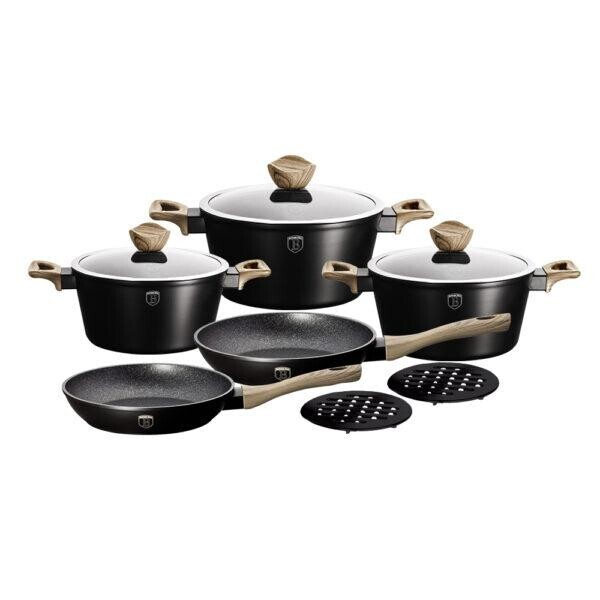 Купить Наборы посуды, Набор посуды 10 предметов Berlinger Haus BH-1533N Ebony Maple Collection с турбо-индукцией