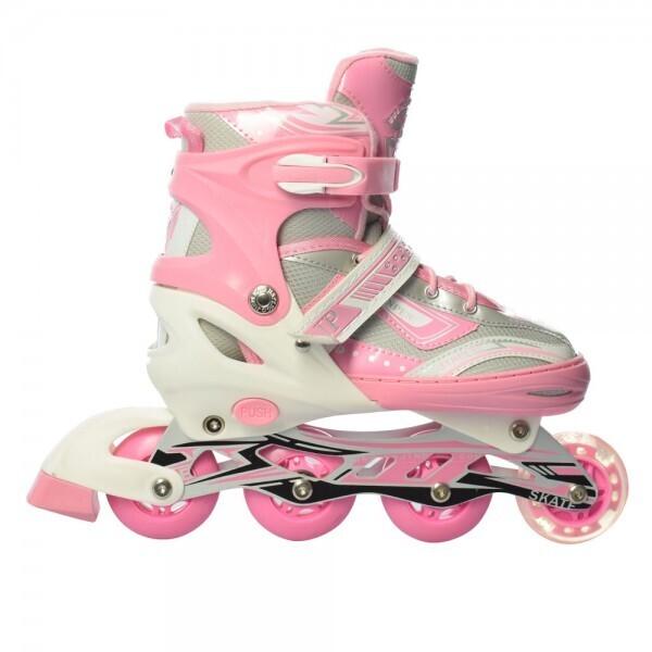 Купить Роликовые коньки, PROFI A17118-2-L pink