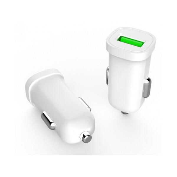 Купить Зарядные устройства для телефонов и планшетов, Набор 2 в 1 АЗУ With Iphone Cable DC12-24V MY-10, 1 x USB, 5V - 7.5W, Output: 5V - 1.5A, White, Blister- box, Q25, PROinstal
