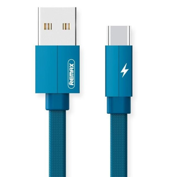 Купить Аудио- и видеокабели, Remax Kerolla Type-C Data/Charge[RC-094A1M-BLUE]