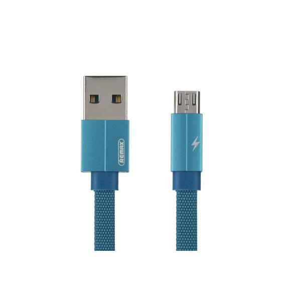 Купить Аудио- и видеокабели, Remax Kerolla MicroUSB Data/Charge[RC-094M1M-BLUE]