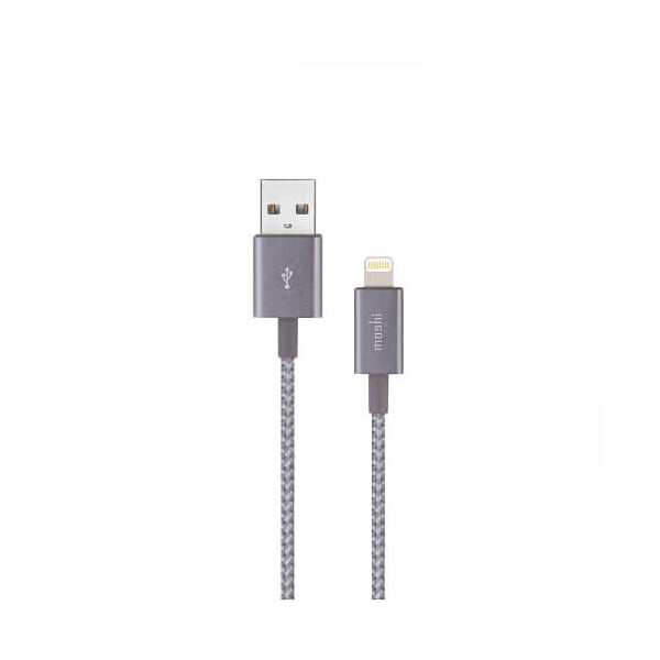Купить Кабели и переходники, Кабель Moshi Integra™ USB-A /Lightning Titanium Gray (0.25m) (99MO023045)