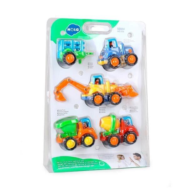 Купить Игрушки для самых маленьких, Игрушка Hola Toys Грузовичок 4 шт. (326)