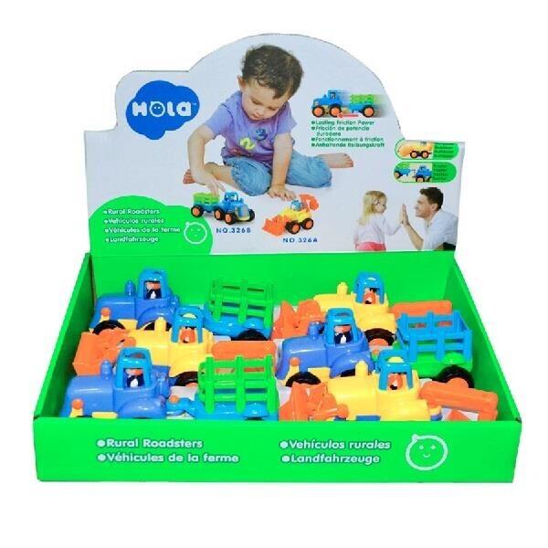 Купить Игрушки для самых маленьких, Игрушка Hola Toys Сельхозмашинка 6 шт. (326AB)