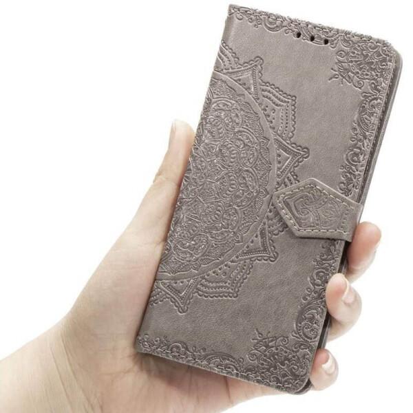 Купить Чехлы для телефонов, Кожаный чехол (книжка) Art Case с визитницей для Samsung Galaxy M31 Серый (128723), Epik
