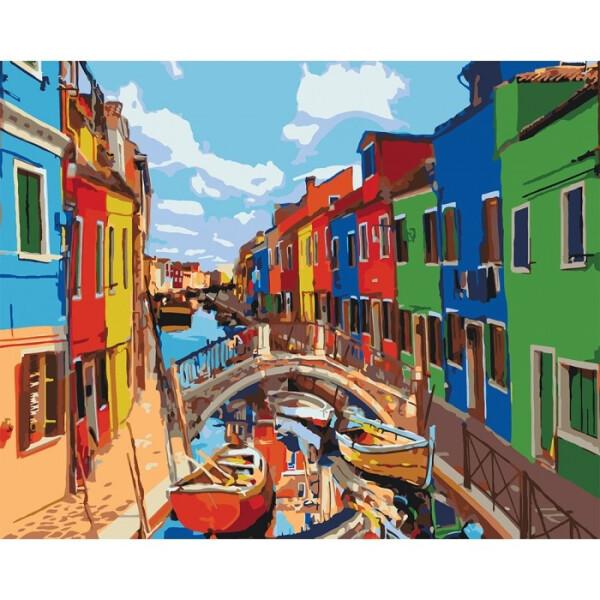 Купить Наборы для творчества и рукоделия, Набор для творчества Идейка Картина по номерам Городской пейзаж Краски Города KHO3502