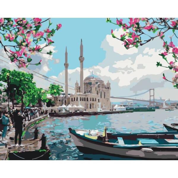 Купить Наборы для творчества и рукоделия, Набор для творчества Идейка Картина по номерам. Городской пейзаж Турецкое побережье KHO2166