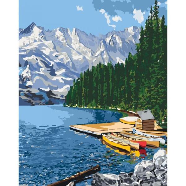 Купить Наборы для творчества и рукоделия, Набор для творчества Идейка Картина по номерам. Сельский пейзаж Горное озеро KHO2223