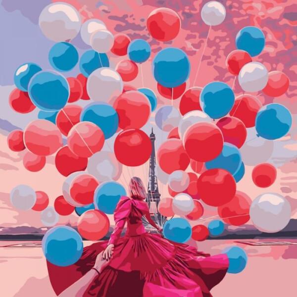 Купить Наборы для творчества и рукоделия, Набор для творчества Идейка Картина по номерам. Городской пейзаж Париж! KHO3530