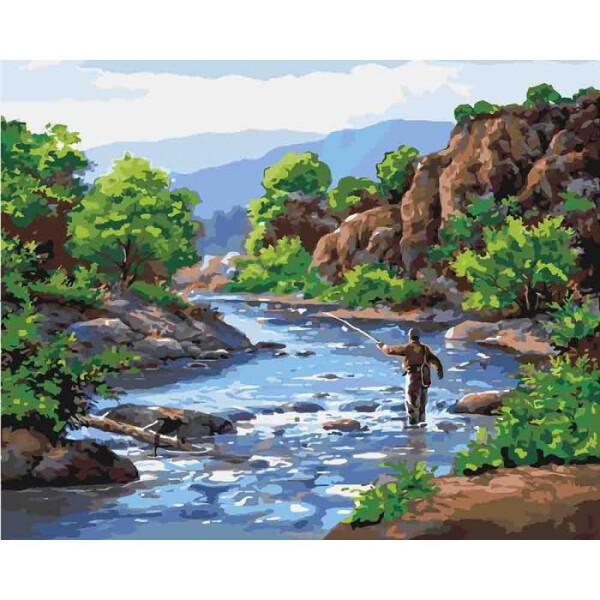 Купить Наборы для творчества и рукоделия, Набор для творчества Идейка Картина по номерам. Сельский пейзаж Отдых душой KHO2250