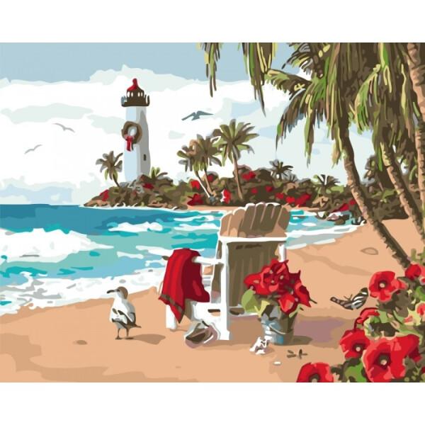 Купить Наборы для творчества и рукоделия, Набор для творчества Идейка Картина по номерам. Пейзаж Испанская затока KHO2825