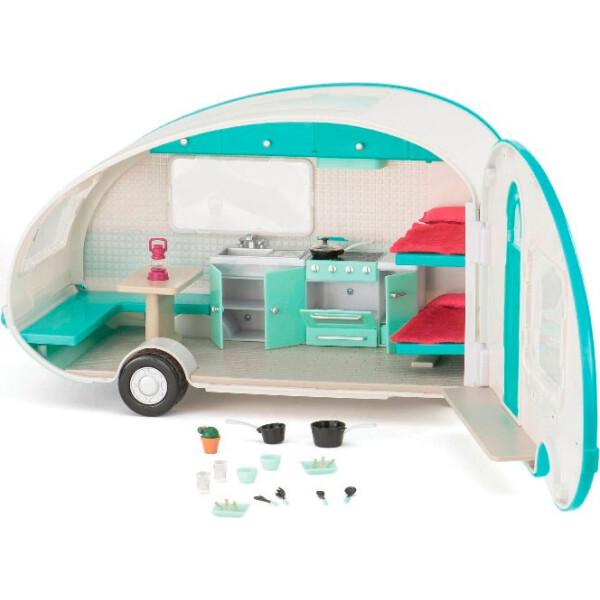 Купить Куклы, наборы для кукол, Кемпер на колесах голубой со светом, транспорт для кукол, Lori (LO37001)
