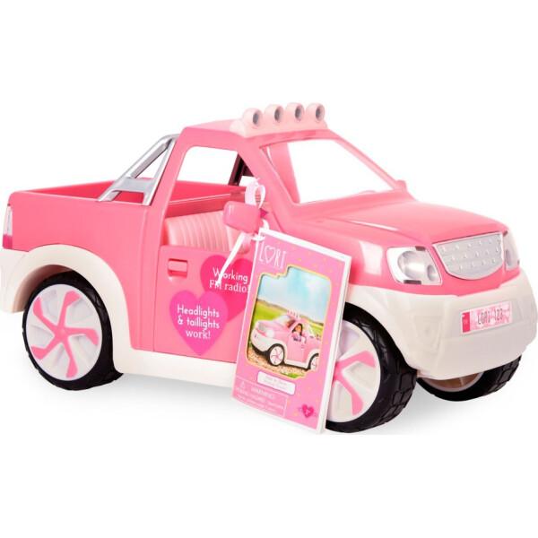 Купить Куклы, наборы для кукол, Джип розовый с FM радио и светом, транспорт для кукол Lori (LO37033Z)