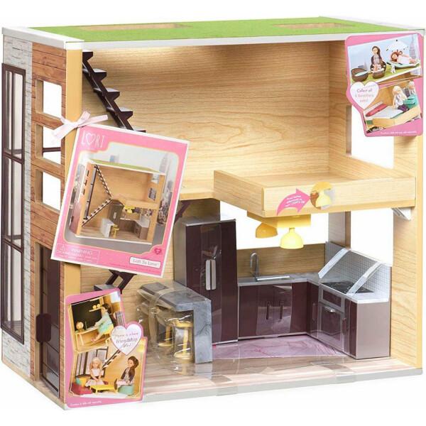 Купить Куклы, наборы для кукол, Деревянный дом со светом для кукол Lori (LO37004Z)