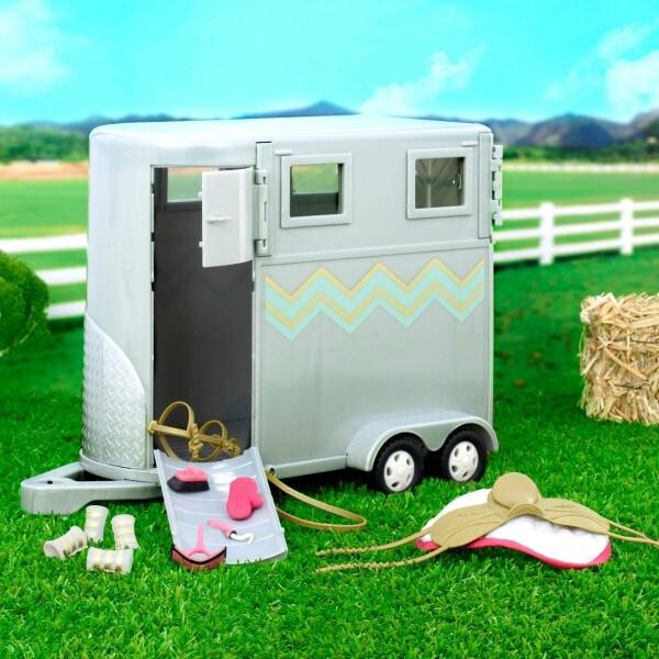 Игрушечный трейлер для лошади Lori транспорт для кукол (LO37020Z)