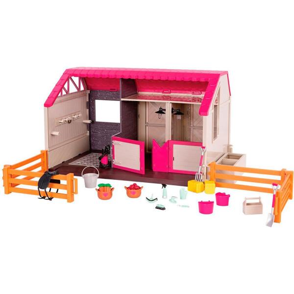 Купить Куклы, наборы для кукол, Конюшня со светом и звуком, игровой набор Lori (LO37053Z)