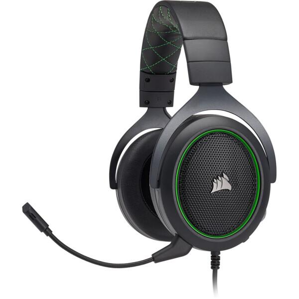 Купить Наушники Corsair HS50 Stereo Gaming Headset (CA-9011171-EU) Black / Green