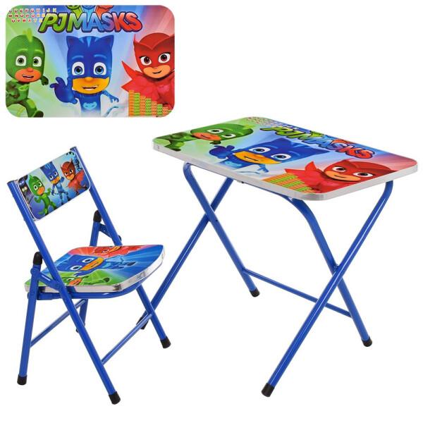 Купить Детские письменные столы, парты, Столик со стульчиком складной Bambi PJ Masks A19-PM Blue (A19-PM)