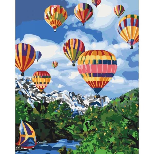 Купить Наборы для творчества и рукоделия, Картина по номерам Идейка Сельский пейзаж Покоряя небо 40х50 см KHO2227