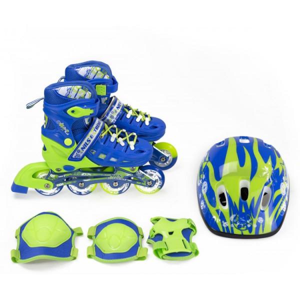 Купить Роликовые коньки, Nils Extreme NA1015A Set (31-34) Blue (NA1015A-BL_S31-34)