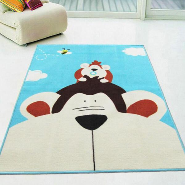 Купить Развивающие коврики, Коврик для детской комнаты Berni Обезьяна 100 х 130 см Синий (45978)