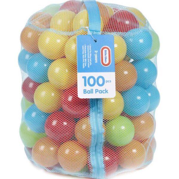Набор шариков для сухого бассейна Little Tikes Outdoor Разноцветные шарики 100 шт. (642821E4C)