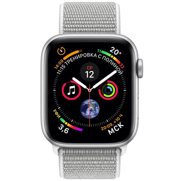 Apple Watch Series 4 44mm Silver Aluminium Case with Seashell Sport Loop  (MU6C2) e2b46874de9e4