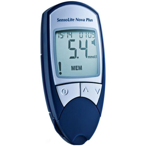 Купить Глюкометры, Глюкометр для определения глюкозы в крови SensoLite Nova Plus (Сенсолайт нова Плюс с голосовым сопровождением), 77 Elektronika