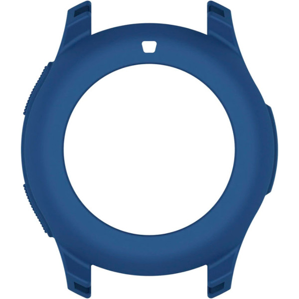 Купить Аксессуары к смарт-часам и фитнес-браслетам, Силиконовый чехол Watchbands для Samsung Gear S3 / Samsung Galaxy Watch 46mm – синий (WB0016CASEBLUE)