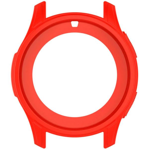 Купить Аксессуары к смарт-часам и фитнес-браслетам, Силиконовый чехол Watchbands для Samsung Gear S3 / Samsung Galaxy Watch 46mm – красно-оранжевый (WB0016CASERED)