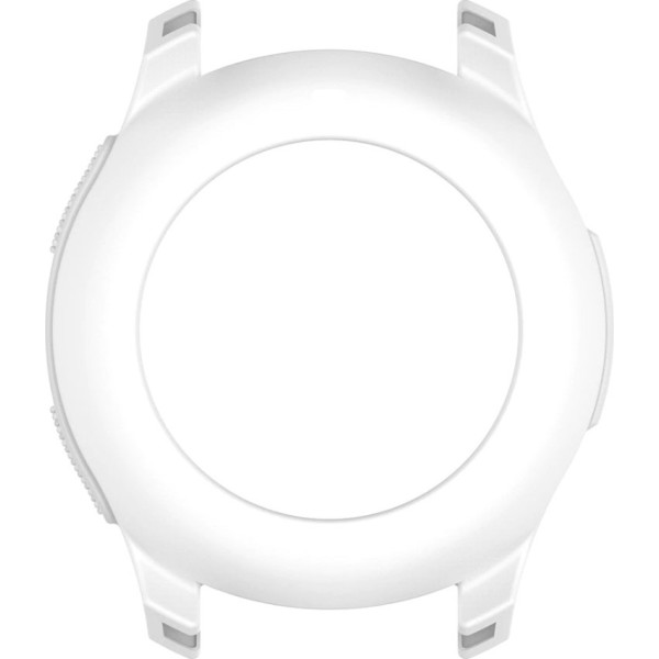 Купить Аксессуары к смарт-часам и фитнес-браслетам, Силиконовый чехол Watchbands для Samsung Gear S3 / Samsung Galaxy Watch 46mm – белый (WB0016CASEWHITE)