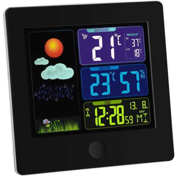 Купить Метеостанции, Метеостанция TFA Sun , цветной ЖК-дисплей, 120х25х120 мм, чёрный (35113301)