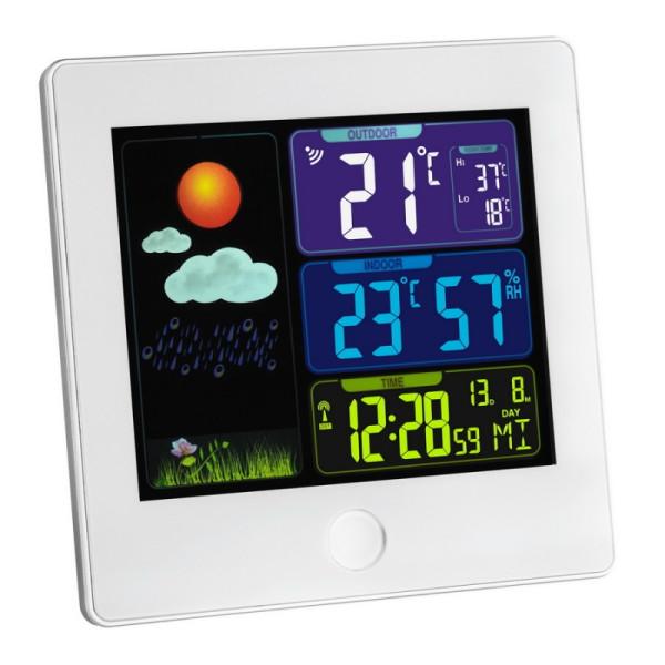 Купить Метеостанции, Метеостанция TFA Sun , цветной ЖК-дисплей, 120х25х120 мм, белый (35113302)