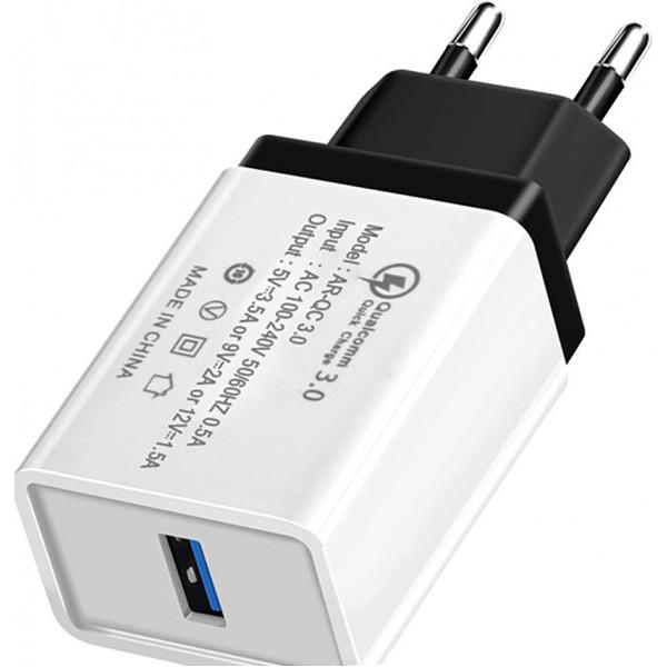 Купить Зарядные устройства для телефонов и планшетов, Сетевое зарядное устройcтво Hoco QC-100 1 USB, 3.5A Black