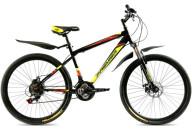 """Купить - велосипед  Premier Captain Disc 17"""" черный с крас-желт-бел"""